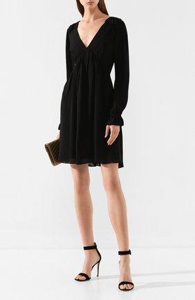 Женское шелковое платье MICHAEL MICHAEL KORS черного цвета, арт. MU98Z07B06 | Фото 2