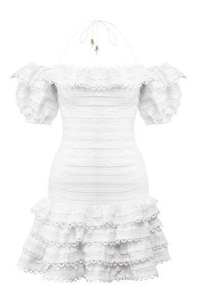 Женское льняное платье ZIMMERMANN бежевого цвета, арт. 6230DALL | Фото 1