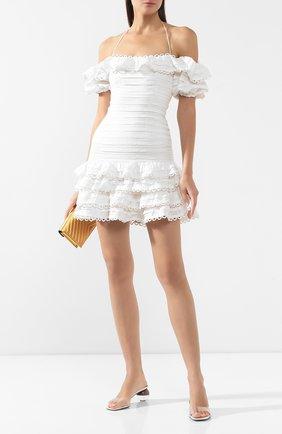 Женское льняное платье ZIMMERMANN бежевого цвета, арт. 6230DALL | Фото 2