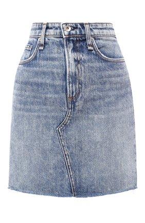 Женская джинсовая юбка RAG&BONE голубого цвета, арт. W1B16I449AVE | Фото 1