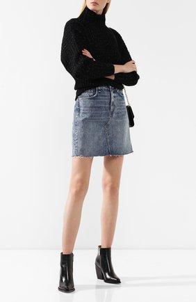 Женская джинсовая юбка RAG&BONE голубого цвета, арт. W1B16I449AVE   Фото 2