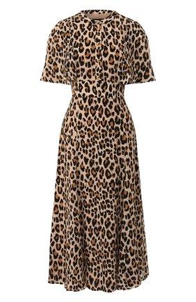 Женское шелковое платье ESCADA леопардового цвета, арт. 5031566 | Фото 1