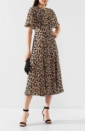 Женское шелковое платье ESCADA леопардового цвета, арт. 5031566 | Фото 2