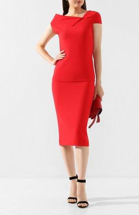 Женская шерстяная юбка ROLAND MOURET красного цвета, арт. PW19/S4134/F4044 | Фото 2