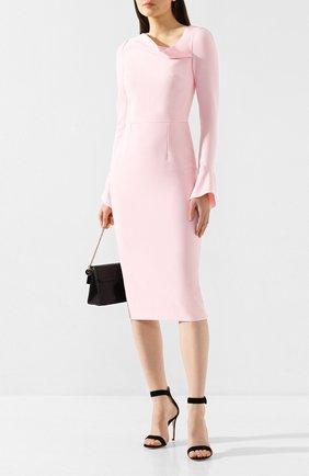 Женское платье ROLAND MOURET светло-розового цвета, арт. PW19/S0647/F2196 | Фото 2