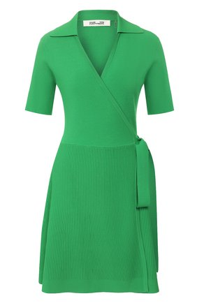 Женское платье из вискозы DIANE VON FURSTENBERG зеленого цвета, арт. 13225DVF | Фото 1