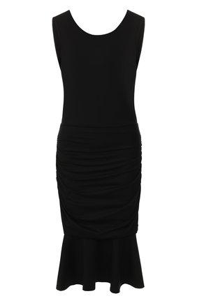Женское платье из вискозы DIANE VON FURSTENBERG черного цвета, арт. 13131DVF | Фото 1