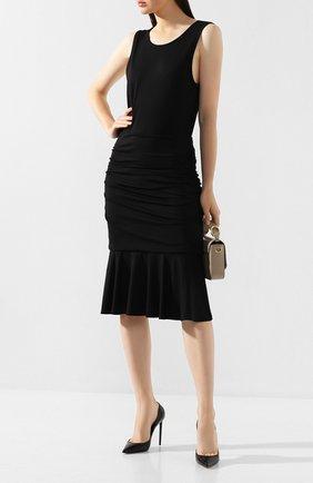 Женское платье из вискозы DIANE VON FURSTENBERG черного цвета, арт. 13131DVF | Фото 2