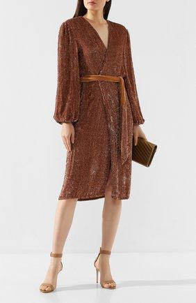 Женское платье из вискозы RETROFÊTE бронзового цвета, арт. PF19-2249   Фото 2