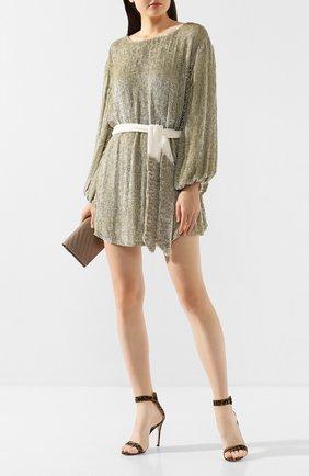 Женское платье из вискозы RETROFÊTE светло-бежевого цвета, арт. HL18-2040   Фото 2