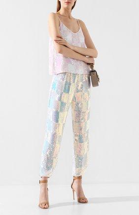 Женские брюки с пайетками RETROFÊTE светло-розового цвета, арт. AK-1701 | Фото 2