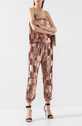 Женские брюки с пайетками RETROFÊTE бронзового цвета, арт. AK-1701   Фото 2