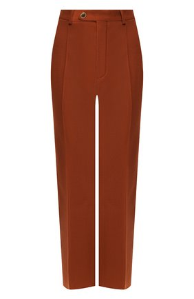 Женские шерстяные брюки CHLOÉ коричневого цвета, арт. CHC19APA65062 | Фото 1