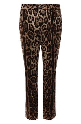 Женские джинсы с принтом DOLCE & GABBANA коричневого цвета, арт. FTAQWT/FSFAG | Фото 1