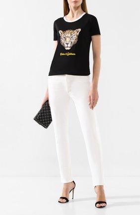 Женская хлопковая футболка DOLCE & GABBANA черного цвета, арт. F8H32Z/G7TAX | Фото 2