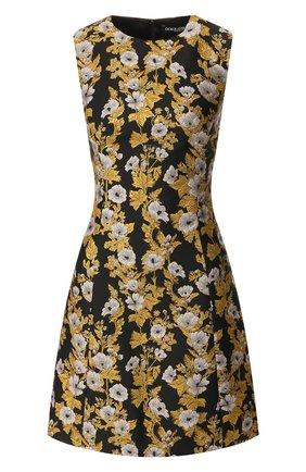 Женское платье DOLCE & GABBANA золотого цвета, арт. F6D0DT/FJM6B | Фото 1