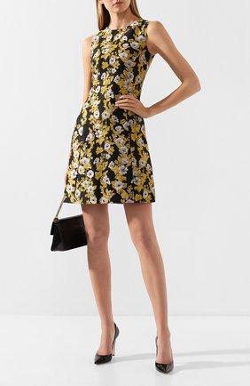 Женское платье DOLCE & GABBANA золотого цвета, арт. F6D0DT/FJM6B | Фото 2