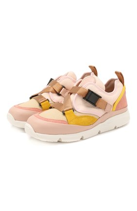 Детские кроссовки CHLOÉ светло-розового цвета, арт. C19100 | Фото 1