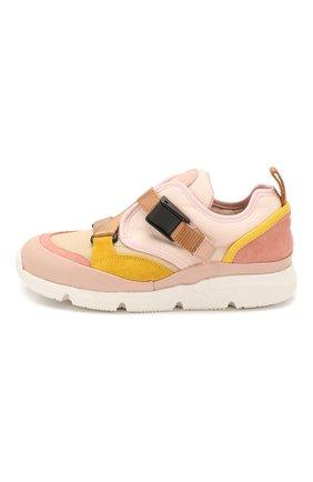 Детские кроссовки CHLOÉ светло-розового цвета, арт. C19100 | Фото 2