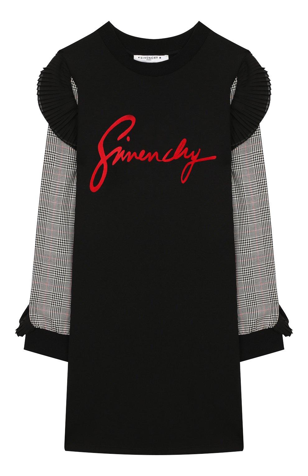 Детское платье GIVENCHY черного цвета, арт. H12095 | Фото 1