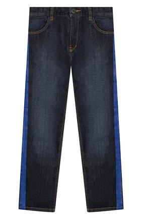 Детские джинсы с лампасами MARC JACOBS (THE) синего цвета, арт. W24202   Фото 1