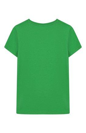 Детская хлопковая футболка GUCCI зеленого цвета, арт. 554879/XJBJ6 | Фото 2