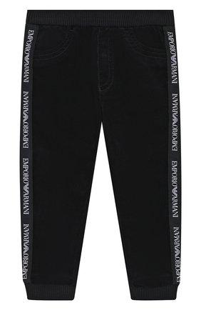 Детские хлопковые брюки EMPORIO ARMANI синего цвета, арт. 6GHJ01/1N69Z | Фото 1