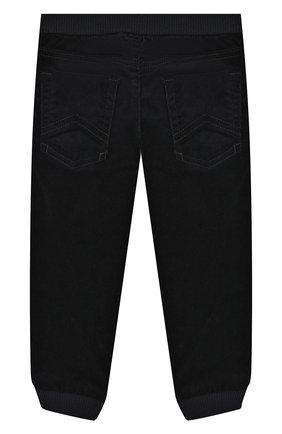 Детские хлопковые брюки EMPORIO ARMANI синего цвета, арт. 6GHJ01/1N69Z | Фото 2