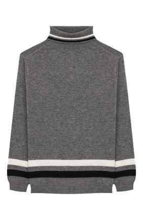 Детский шерстяной свитер IL GUFO серого цвета, арт. A19MA282EM220/5А-8А | Фото 1