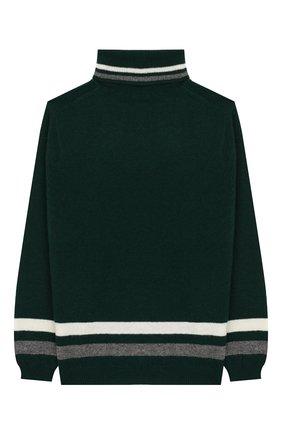 Детский шерстяной свитер IL GUFO темно-зеленого цвета, арт. A19MA282EM220/2А-4А | Фото 2