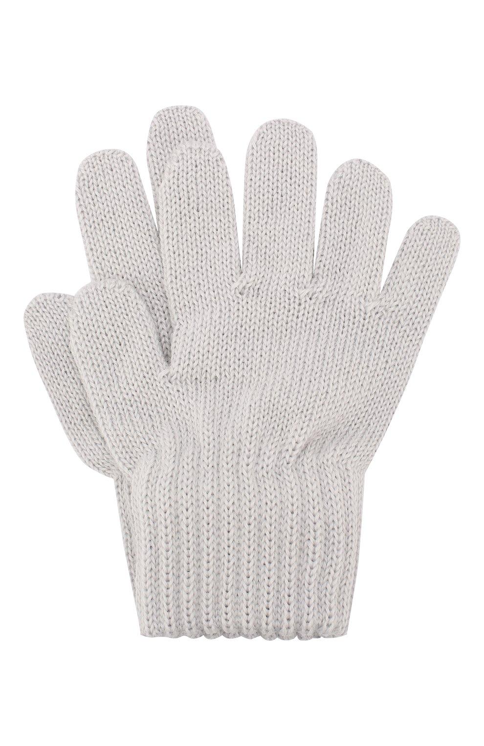 Детские шерстяные перчатки CATYA светло-серого цвета, арт. 923531 | Фото 1
