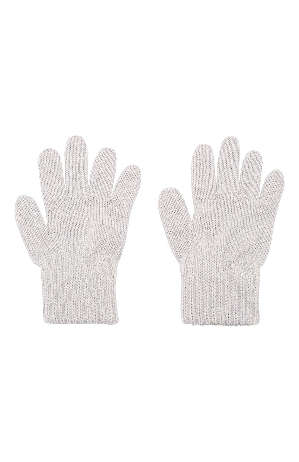 Детские шерстяные перчатки CATYA светло-серого цвета, арт. 923531 | Фото 2