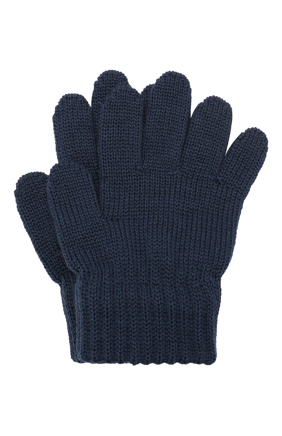 Детские шерстяные перчатки CATYA синего цвета, арт. 923531 | Фото 1