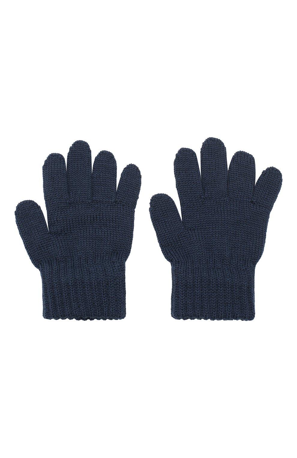 Детские шерстяные перчатки CATYA синего цвета, арт. 923531 | Фото 2