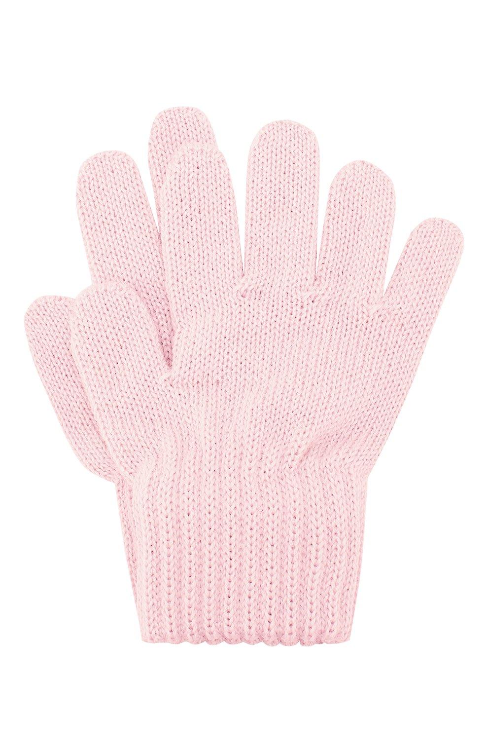 Детские шерстяные перчатки CATYA светло-розового цвета, арт. 923531 | Фото 1