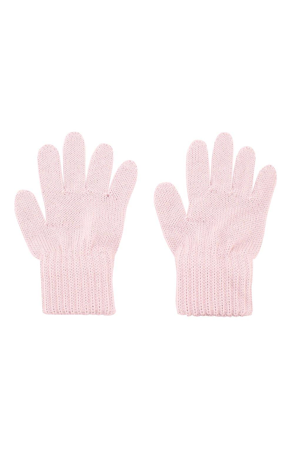 Детские шерстяные перчатки CATYA светло-розового цвета, арт. 923531 | Фото 2