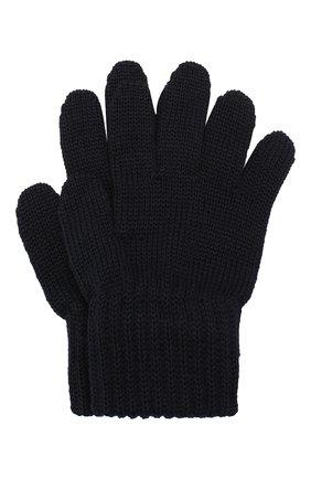 Детские шерстяные перчатки CATYA темно-синего цвета, арт. 923531 | Фото 1