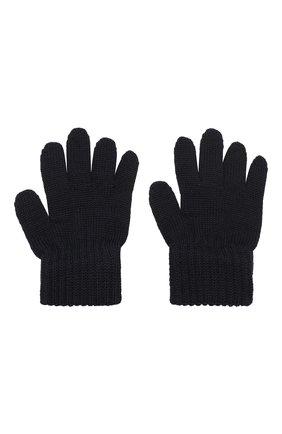 Детские шерстяные перчатки CATYA темно-синего цвета, арт. 923531 | Фото 2
