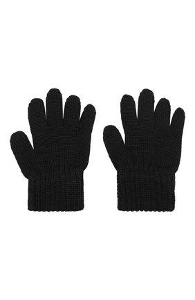 Детские шерстяные перчатки CATYA черного цвета, арт. 923531 | Фото 2