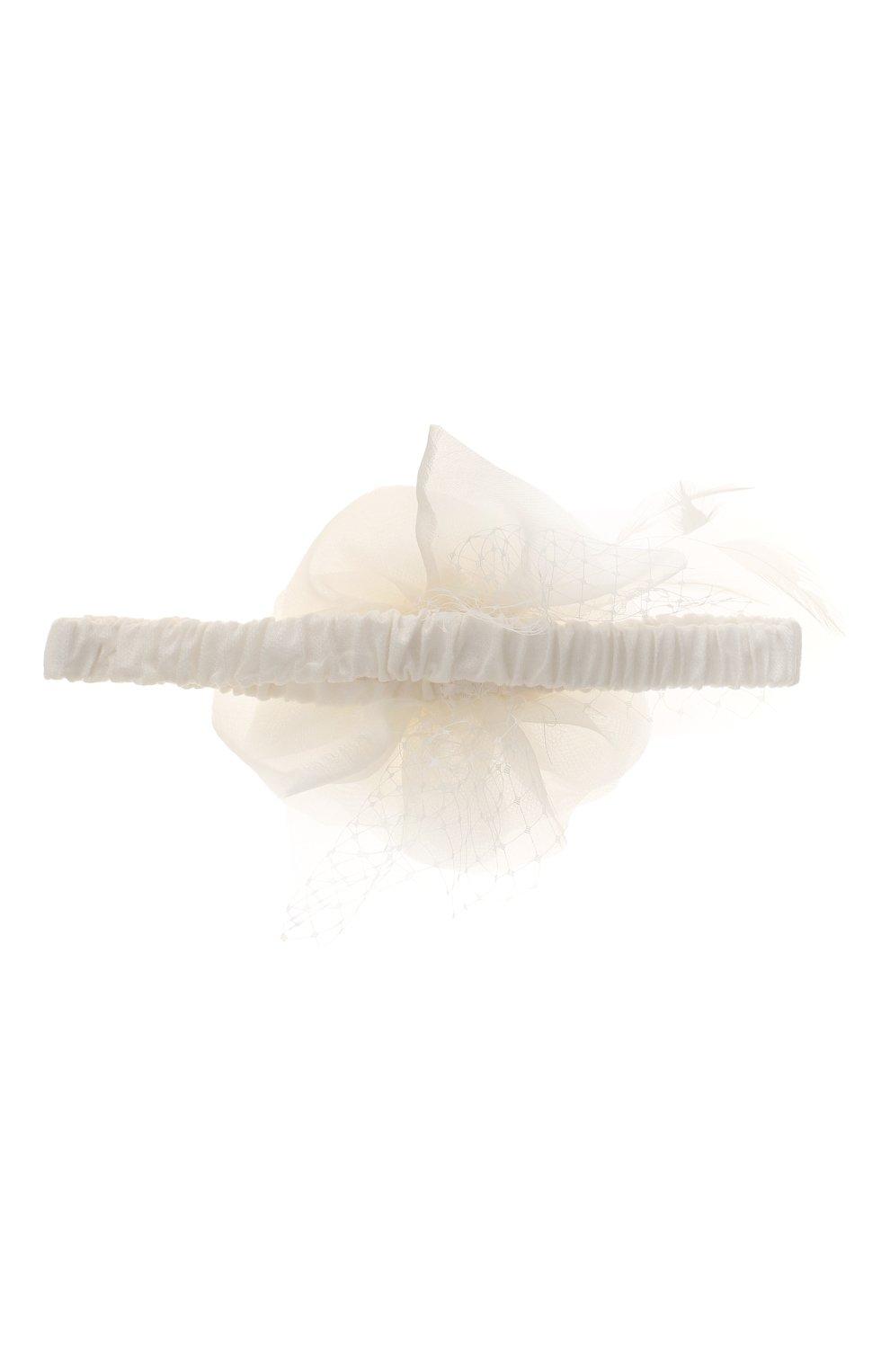 Детская повязка на голову DESIGNERS CAT бежевого цвета, арт. 100000K01000384 | Фото 2 (Материал: Текстиль, Шелк, Синтетический материал; Статус проверки: Проверено, Проверена категория)