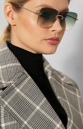 Женские солнцезащитные очки FRED зеленого цвета, арт. FG40005U 30P | Фото 2