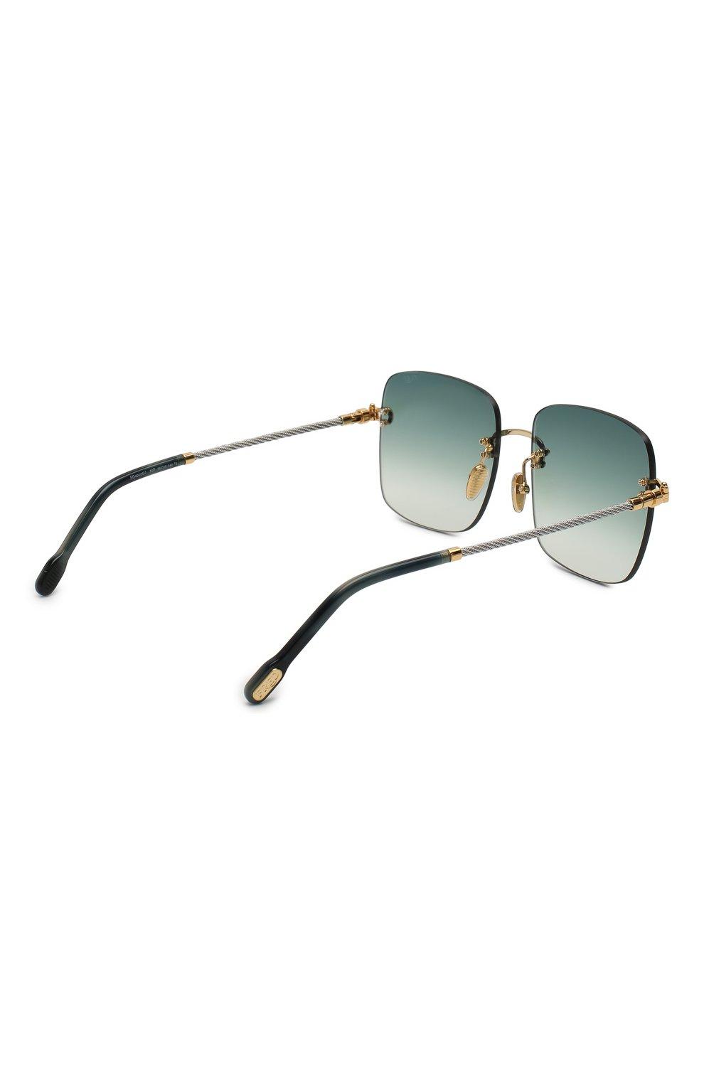 Женские солнцезащитные очки FRED зеленого цвета, арт. FG40005U 30P | Фото 4