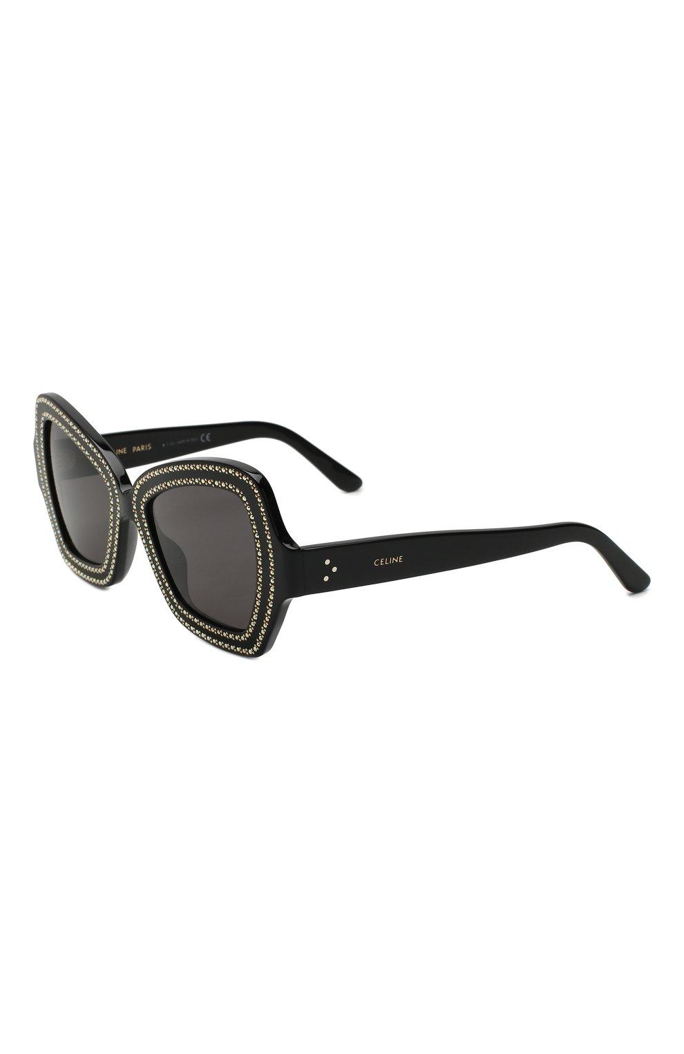 Женские солнцезащитные очки CELINE EYEWEAR коричневого цвета, арт. CL4067IS 01A | Фото 1