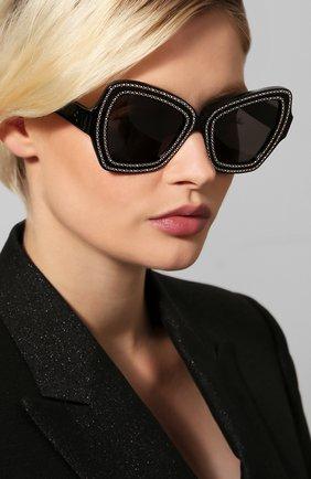 Женские солнцезащитные очки CELINE EYEWEAR коричневого цвета, арт. CL4067IS 01A | Фото 2