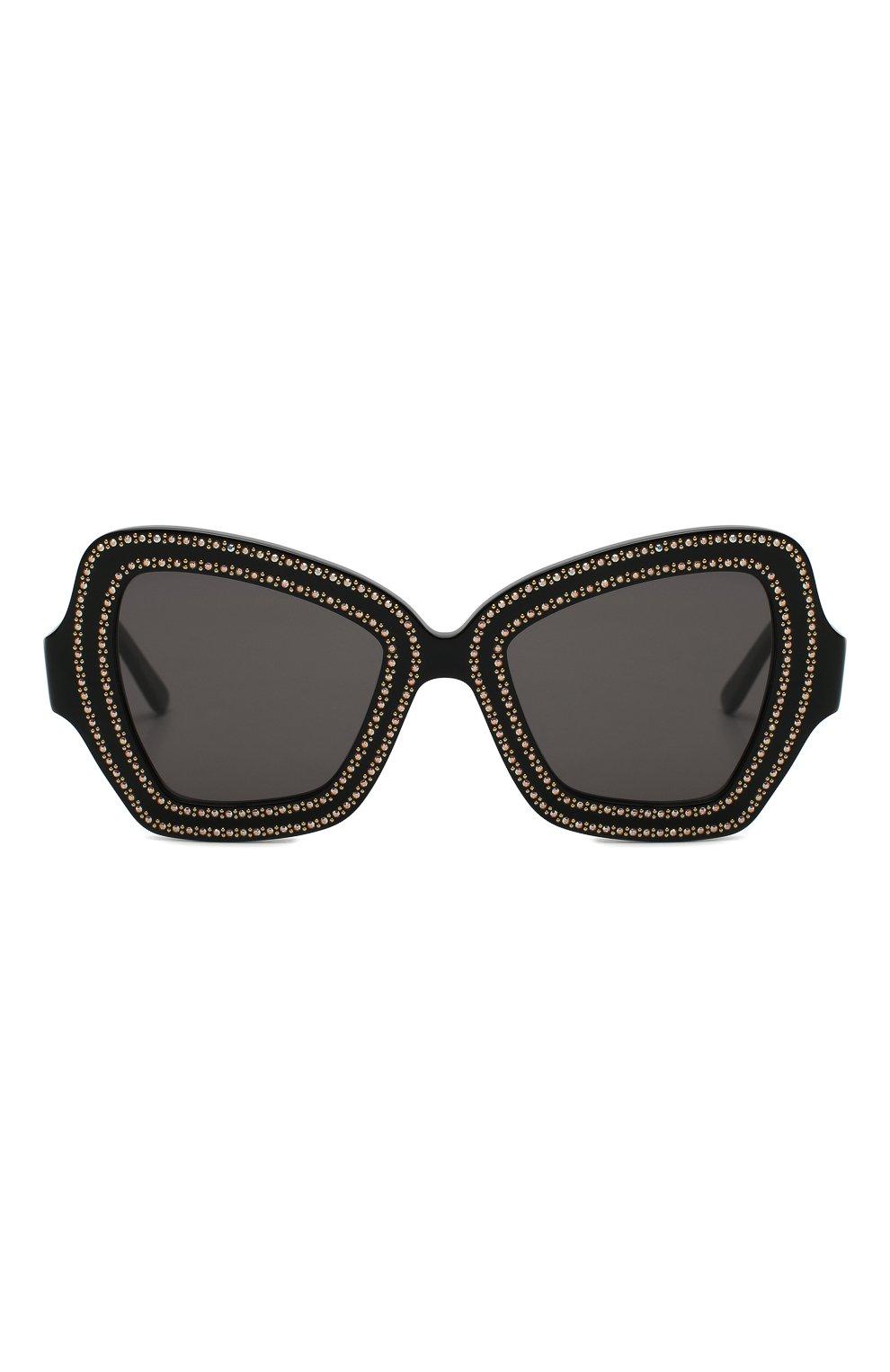 Женские солнцезащитные очки CELINE EYEWEAR коричневого цвета, арт. CL4067IS 01A | Фото 3