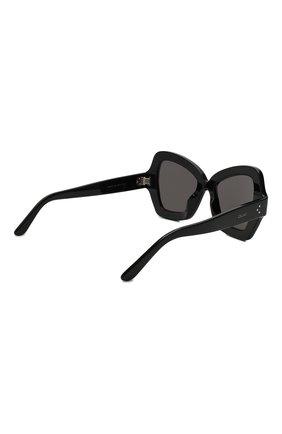 Женские солнцезащитные очки CELINE EYEWEAR коричневого цвета, арт. CL4067IS 01A | Фото 4