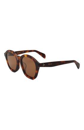 Женские солнцезащитные очки CELINE EYEWEAR коричневого цвета, арт. CL40017F 53E | Фото 1