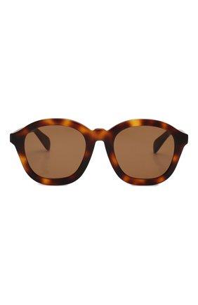 Женские солнцезащитные очки CELINE EYEWEAR коричневого цвета, арт. CL40017F 53E | Фото 3