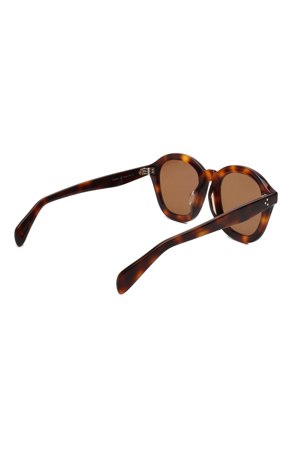 Женские солнцезащитные очки CELINE EYEWEAR коричневого цвета, арт. CL40017F 53E | Фото 4