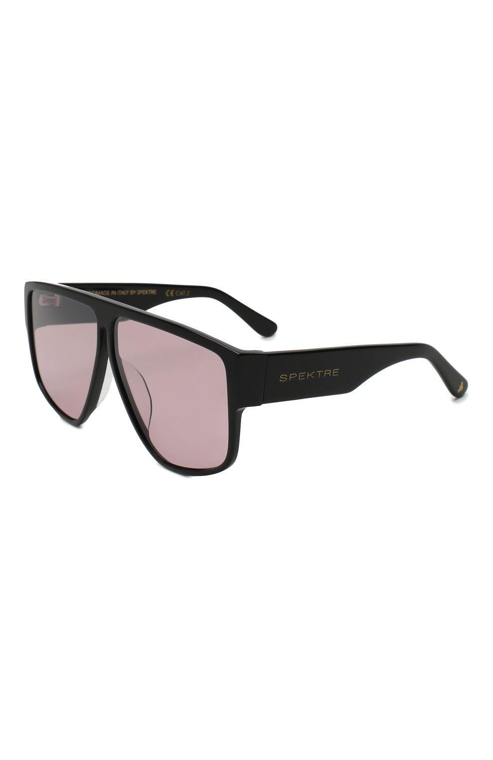 Женские солнцезащитные очки SPEKTRE темно-розового цвета, арт. LAURENT 01BFT | Фото 1 (Тип очков: С/з; Статус проверки: Проверено, Проверена категория; Очки форма: Маска, D-форма; Оптика Гендер: оптика-женское)